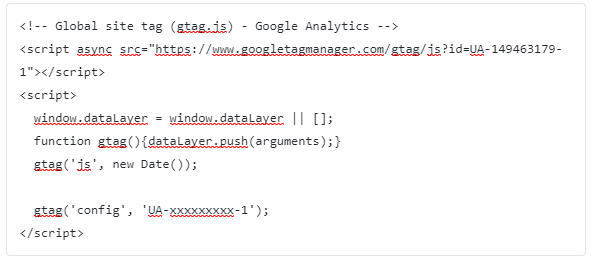 google analytics tracking code example