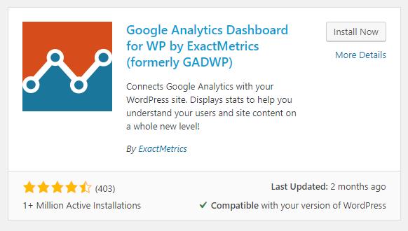 google analytics plugin for wordpress