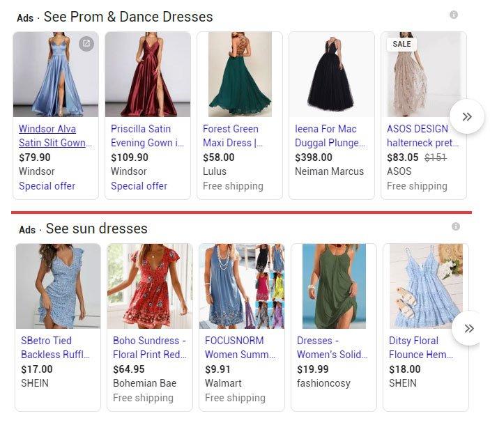 prom dress vs sun dress example
