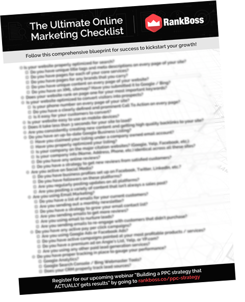 the ultimate online marketing checklist