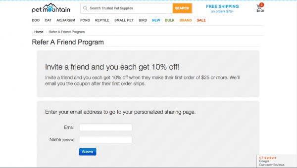 customer referral program example